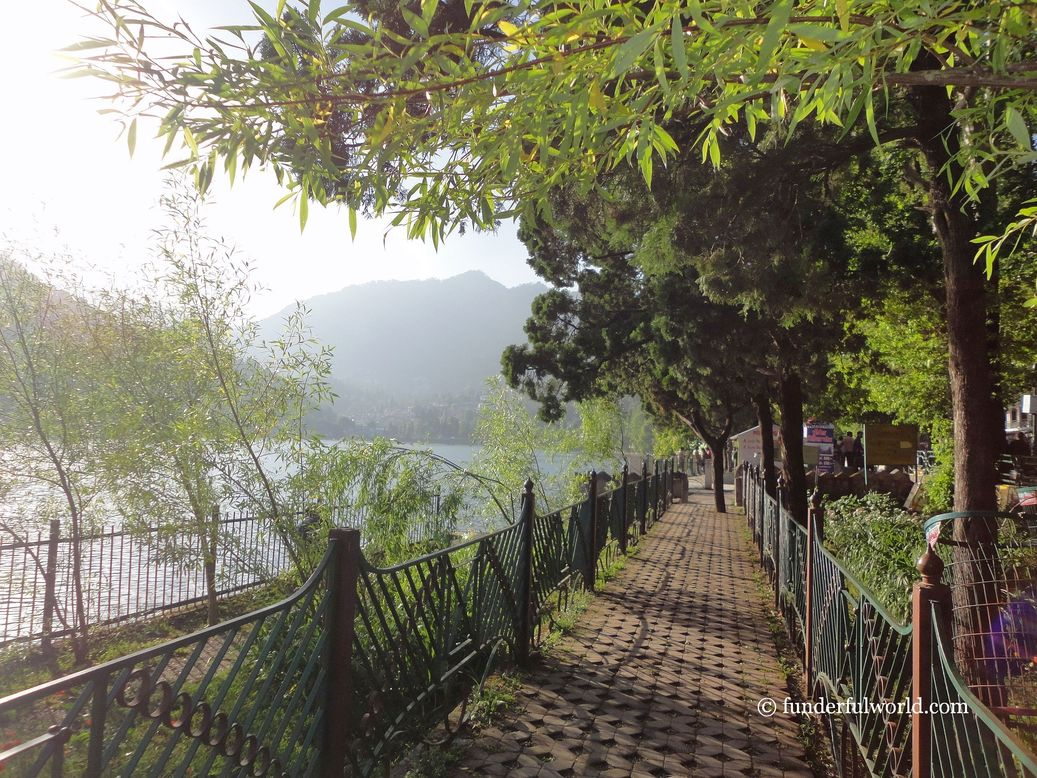 The lakeside promenade. Nainital, Uttarakhand, India.