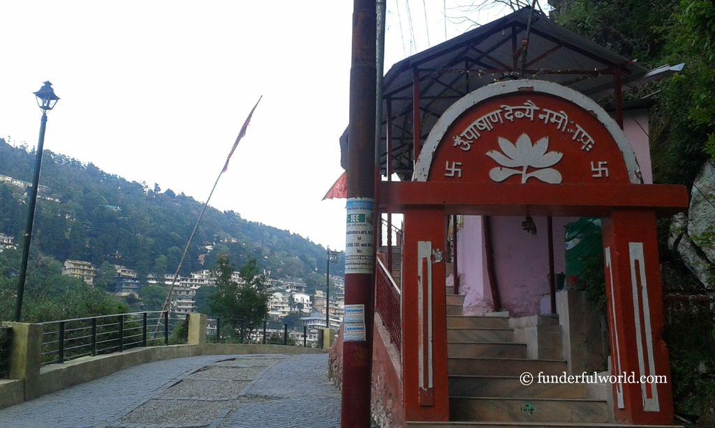 Pashan Devi temple along Thandi Sadak. Nainital, Uttarakhand, India.