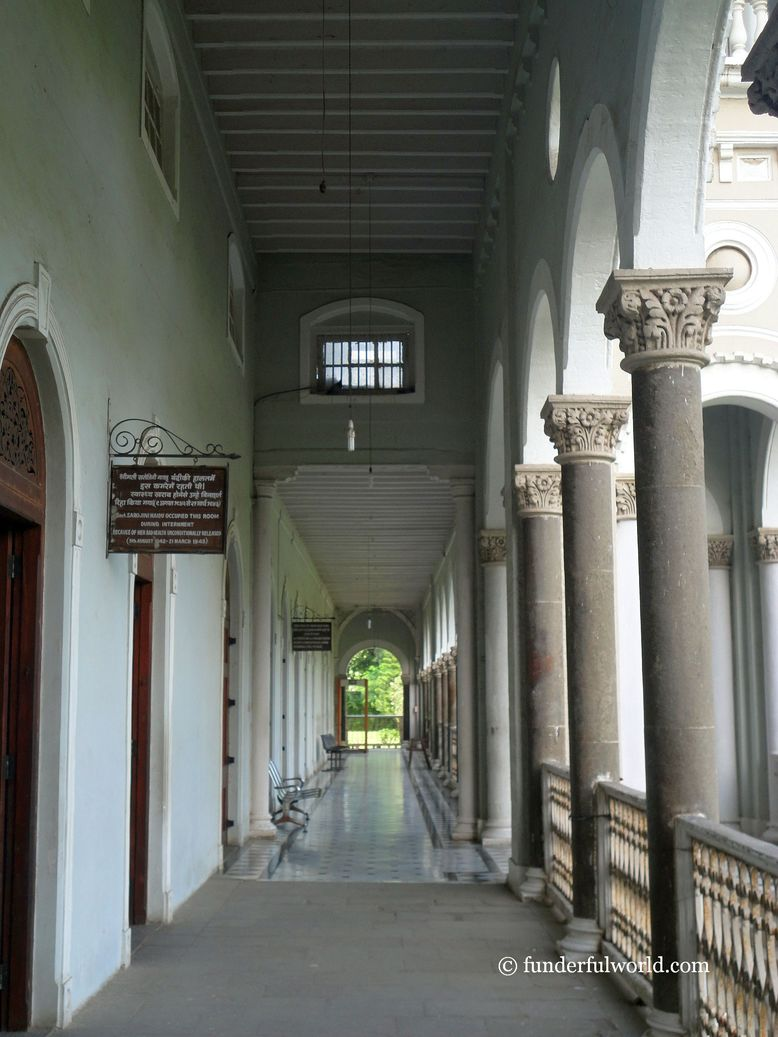Hallway. Aga Khan Palace, Pune, India