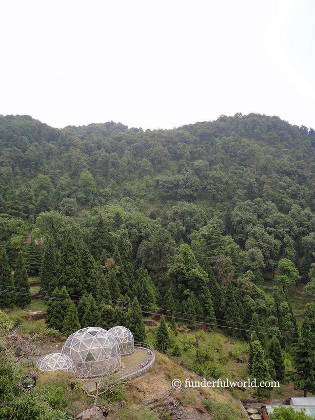 Geodesic Domes and More. Himalayan Botanical Garden, Nainital, India
