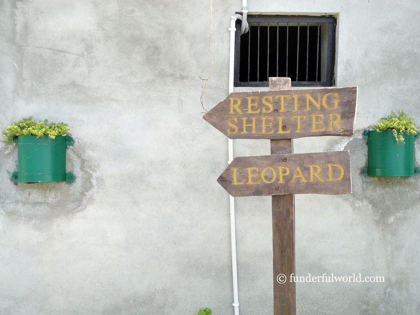 Signs. Nainital Zoo, India