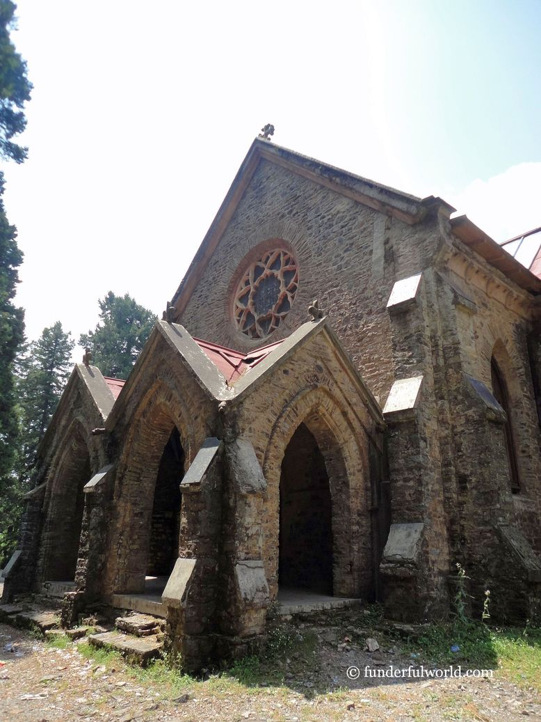 Church of St. John in the Wilderness. Nainital, India.