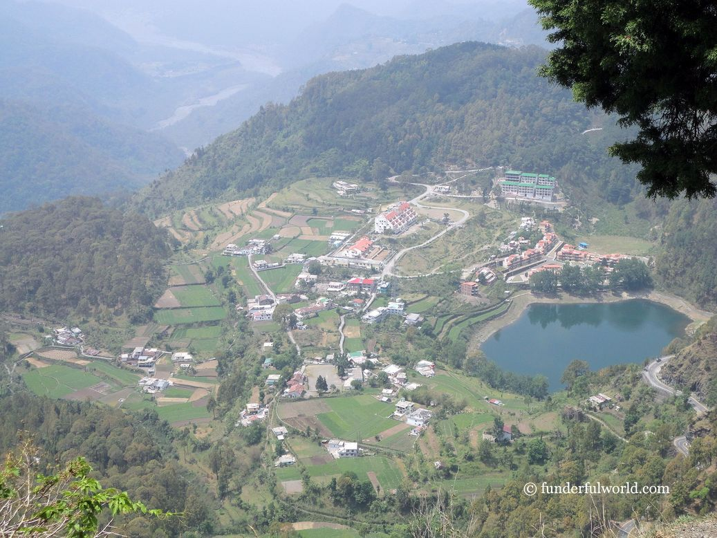 A view of Khurpa Tal. Nainital, India.