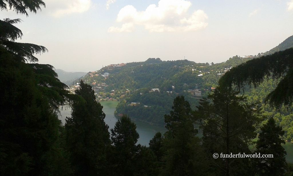 Naini Lake. From Snow View Point, Nainital, India.