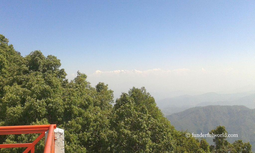 From the terrace at KMVN Tourist Rest House, Binsar, Uttarakhand.