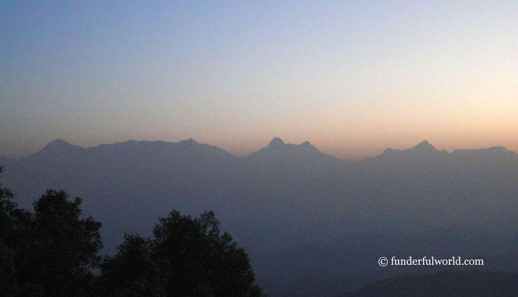 The Himalayan Peaks. From Binsar Wildlife Sanctuary, Uttarakhand.
