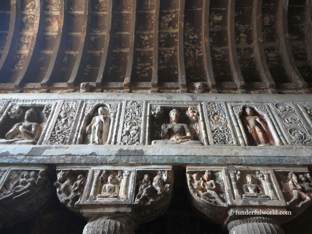 Treasures from the past. Ajanta Caves, India.