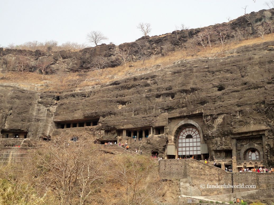 Looking back. Ajanta Caves, Maharashtra, India.