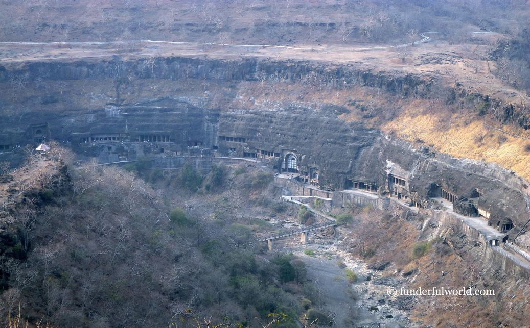 Bird's-eye view. Ajanta Caves Viewpoint, India.