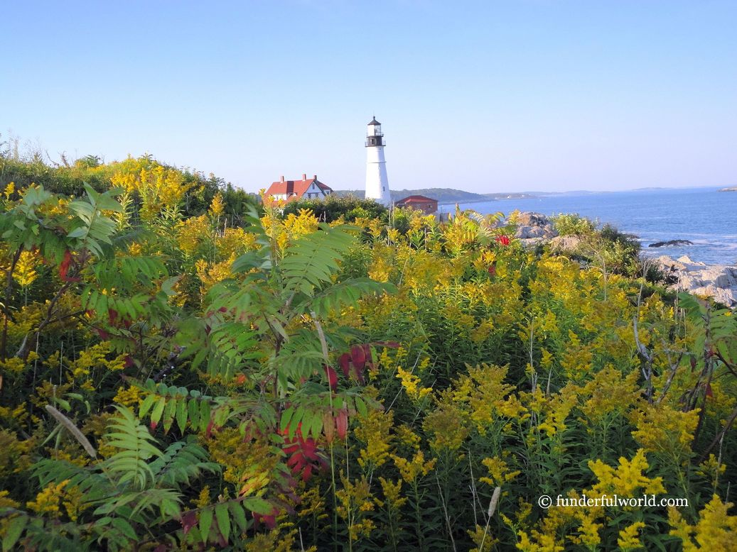 Postcard from Maine. Portland Head Light, Cape Elizabeth, Maine, USA.